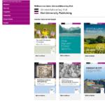 Screenshot der Startseite der Websites des Universitätsverlags Kiel